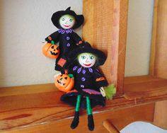 Wicked Witch Mini Doll Black Witch Miniature Art Doll Mini