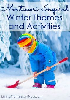 Montessori-inspired winter themes along with hundreds of Montessori-inspired winter activities for classroom or homeschool. Perfect for preschool through early elementary - Living Montessori Now Moon Activities, Montessori Activities, Preschool Activities, Montessori Homeschool, Montessori Bedroom, Nature Activities, Family Activities, Montessori Elementary, Montessori Toddler