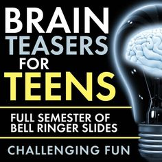Time to add some challenging fun to your classroom routine with Brain Teasers for teens! First, give these head-scratchers a try: When you're ready, scroll down for the answers. Now, did you really… Pre class or middle of class brain teasers Classroom Routines, Classroom Activities, Classroom Ideas, High School Activities, Classroom Organization, Teen Team Building Activities, Teen Activities, Classroom Pictures, Classroom Tools