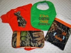 Orange Bodysuit with Camo Tie - Baby Boy Camo Gift Set by grinsandgigglesbaby1, $35.99 Baby Boy Camo, Camo Tie, Daddy, Reusable Tote Bags, Embroidery, Future, Trending Outfits, Boys