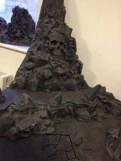 Daemon world terrain - skull rock, corner piece