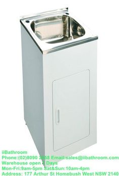 New Stainless Steel Slim Laundry Tub Unit 35 Liters Bowl Australia Standard