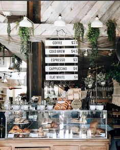 "The Butcher's Daughter is a plant-based restaurant, cafe, juice bar and ""vegetable slaughterhouse Cozy Coffee Shop, Small Coffee Shop, Coffee Shop Design, Coffee Cafe, Rustic Coffee Shop, Coffee Shop Menu, Rustic Cafe, Coffee Shops, Breakfast Cafe"