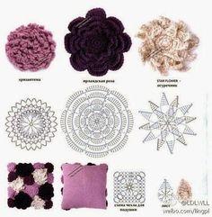 Tecendo Artes em Crochet: Almofada e Uma Flor Linda - Receitas compartilhadas!
