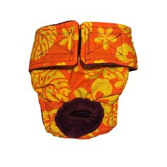 Dog Diapers - Made in USA - Orange Hawaiian Hibiscus Washable Dog Diaper for Incontinence, Housetraining and Dogs in Heat >>> Insider's special review you can't miss. Read more  : Cat litter