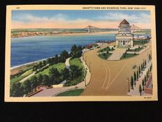 Mid-1900s Grant's Tomb and Riverside Park, New York City postcard