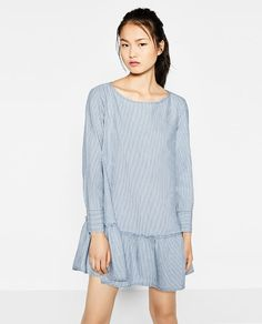 Image 4 of FRILLED STRIPED DRESS from Zara