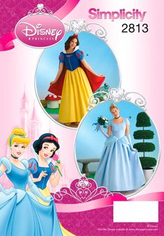 Sew Disney Inspired for your Maidens | 2813 Misses Costumes - Misses Snow White and Cinderella Disney Princess Costumes - Simplicity : 2813