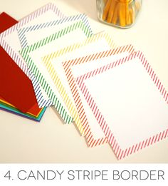 Market Street Stamps Candy Stripe :Candy Stripe Border