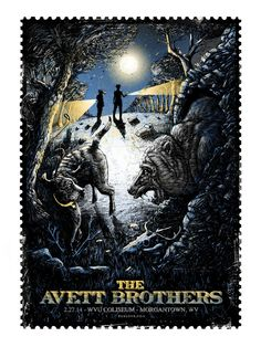 New Avett Brothers gig posters by Zeb Love
