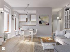 Otwarta kuchnia ma kilka znaczących plusów. Dzięki niej niewielkie mieszkanie staje się bardziej przestronne, jaśniejsze i zyskuje nowoczesny, designerski charakter. Projektanci zalecają jednak choćby umowne wydzielenie przestrzeni pomiędzy częścią kuchenną, a salonem. Dlaczego? Dzięki pomysłowemu p ...