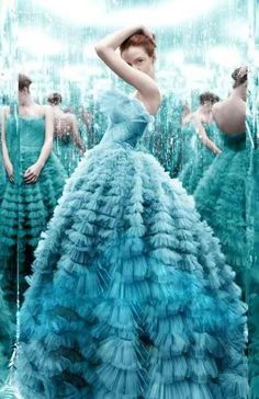 gorgeous aqua dress