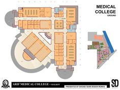 Medical College and Hospital Complex Hospital Architecture, New Architecture, Education Architecture, Hospital Floor Plan, Hospital Plans, School Floor Plan, Medical College, College Campus, School Building Design