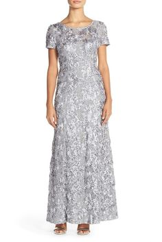 online shopping for Alex Evenings Embellished Lace Gown (Regular & Petite) from top store. See new offer for Alex Evenings Embellished Lace Gown (Regular & Petite) Mob Dresses, Short Sleeve Dresses, Bride Dresses, Bridesmaid Dresses, Short Sleeves, Wedding Dresses, Floral Dresses, Wedding Attire, Rose Gown