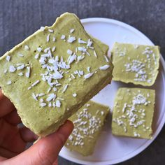 Matcha Ice Cream Bars (Raw Vegan, Paleo, Low Carb)