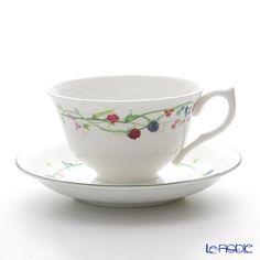 エインズレイ エリザベスローズ ブルー ティーカップ&ソーサー(オーバン) 180ml
