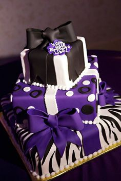 1000 Images About Purple Birthday Cakes On Pinterest