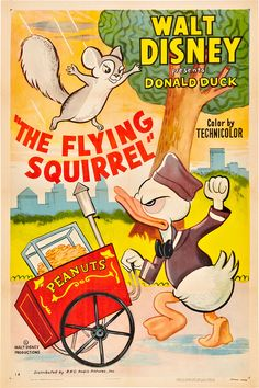 Theatrical poster of Donald Duck in the Flying Squirrel.