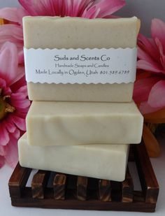 MILK SOAP Unscented Moisturizing Handmade face and body soap. Handcrafted using the cold process method with Goats Milk, Buttermilk, Oatmeal by SudsNScentsCo on Etsy
