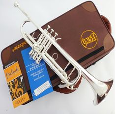 High quality Bach Trumpet authentic Double Silver-plated TR-190GS B flat professional Trompete musical instruments Brass bugle