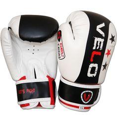 VELO 6oz Kids Boxing Gloves,Punch Bag Mitts Junior Children MMA Kick White