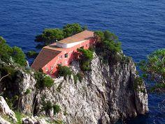 Casa Malaparte (1938-1942) by Curzio Malaparte and Adalberto Libera, Isle of Capri, Italy