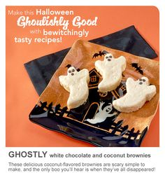Ghostly White Chocolate and Coconut Brownies Recipe from CH® Sugar!