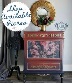 My Top 20 Dixie Belle 3 Color Blends – Brushed By Brandy Lane Furniture, Diy Furniture Projects, Furniture Makeover, Stripping Furniture, Chalk Paint Furniture, Red Paint, Paint Colors, Mid Century Sideboard, Dixie Belle Paint