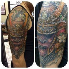 Samurai coverup tattoo