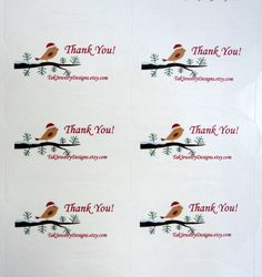 Labels Personalized White Oval Christmas Thank You Address Gift for You Branding. $3.50, via Etsy.
