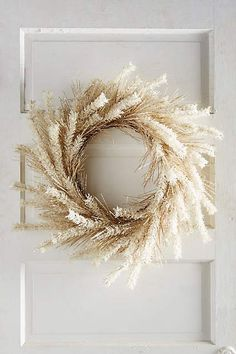 white autumn wreath