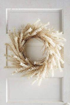 white autumn wreath