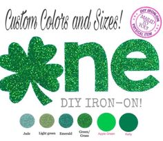 A personal favorite from my Etsy shop https://www.etsy.com/listing/583077257/diy-first-st-patricks-one-iron-on