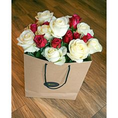 """Bag of roses """"Devotion"""" - a perfect gift for any occasion. Flower Delivery, Bouquets, Roses, Bag, Flowers, Gifts, Presents, Bouquet, Pink"""