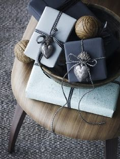 elegant grey wrapping