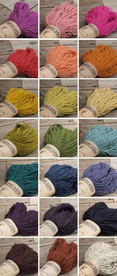heirloom romney yarn @Fancy Tiger craft! delicious colors.