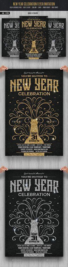 New Year Celebration Flyer Template PSD #design Download: http://graphicriver.net/item/new-year-celebration/13667396?ref=ksioks