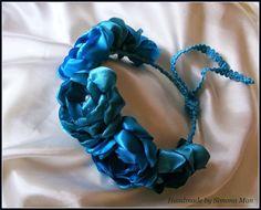 coronita flori, coronita turcoaz, coronita eleganta, coronita nunta, flori in par, flori albastre, flori artificiale, coronita flori artificiale, coronite Cluj, coronite handmade,
