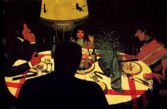 Felix Vallotton, 'The dinner effect of lamp', 1899.