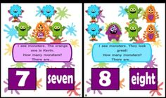 """Practice numbers and number words with fun, little monsters. This title uses magnets to """"make learning stick!"""" (Download preview for pictures.) This MagnetMat file also contains: * A color reader on the same skills found in the MagnetMat * A B fill-in-the-blank reader for a whole group activity * Cutesy monster number matching cards $"""