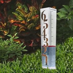 La Crosse Technology Patina Rain Gauge Large Numbers Easy to Read Free US Ship #LacrosseTechnology #PatinaNumbersonClearContainer