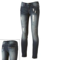 Mudd+Distressed+Skinny+Jeans+-+Juniors
