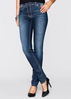 Strečové džíny s ozdobnými švy, bpc selection