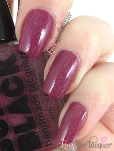 LOVE FOR LACQUER: SUPER BLACK Lacquers - Swatches & Review