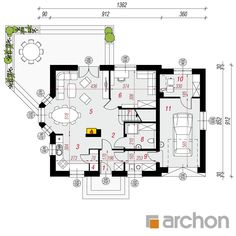Dom w rododendronach 6 Traditional House, House Plans, Floor Plans, How To Plan, Home Plans, House Floor Plans, House Design