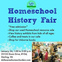 Due to Snozilla 2016, this fair has been RESCHEDULED for Tuesday, February 2nd from 1:00 to 3:00 at the same location. Please come out to view the kids' projects, participate in an used curriculum sale and share some coffee and baked goods with friends.