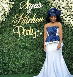 Wedding Outfits For Family Members Wedding Dress Pictures, Blue Wedding Dresses, Bridesmaid Dresses, African Traditional Wedding Dress, Traditional Wedding Attire, African Fashion Dresses, African Dress, Sotho Traditional Dresses, Wedding Outfits For Family Members