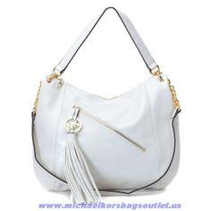 Michael Kors Zipper Tassels Should Bag White On Sale
