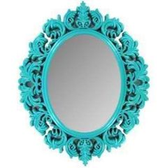 Wall Mirror Turquoise Shabby Chic Victorian Girls Room Nursery Home Decor | eBay