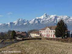 Villa Miari e il borgo di Col Cugnach Belluno Dolomiti Veneto Italia